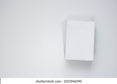 Complete Deck of Cards Isolated on White Background. From above.