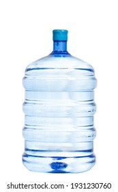 complete photograph of a container of purified water on a white background, concept of health and rendering.