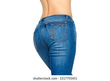 The complete woman's body She wore a fit jeans