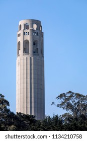 Completed in 1933, Coit Tower is a slender 210-foot iconic concrete column of the Telegraph Hill neighborhood of San Francisco, California.