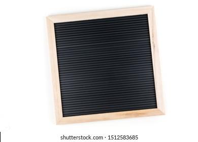Completely blank slate empty black sign board