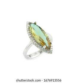 completely clear jewelry on a white background