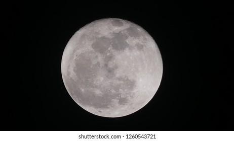 Completely full moon