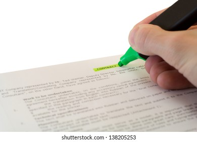 completion of the contract on an isolated background