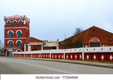 Complex of buildings of paper mill (1870), Dobrush, Gomel region, Belarus