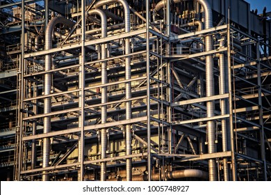 Complex Piping Array at a Gas-Fired Power Plant