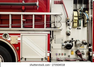 Complex pumping and valve controls on a firetruck