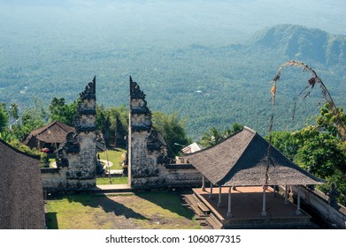 The complex of Pura Lempuyang temple on the top of a mountain, Bali, Indonesia