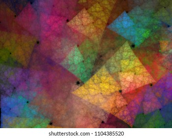 Complex soft abstract color triangles background texture pattern warm
