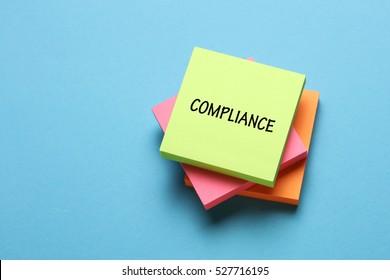 Compliance, Business Concept