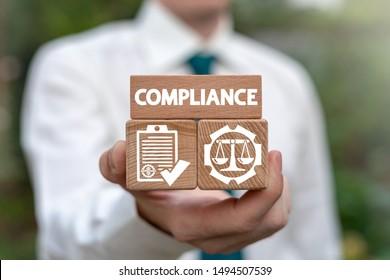 Compliance Standard Regulation Balance Business concept.