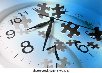 Composite of Clock and Jigsaw Puzzle