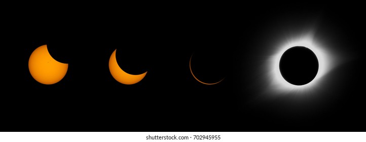 Composite image of the North American Solar Eclipse 2017