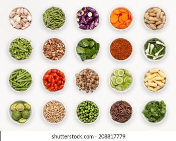composite with many different varieties of ingredients and spices