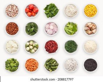 composite with many different varieties of ingredients and spices - Shutterstock ID 208817797