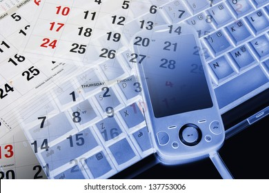 Composite of Smart Phone and Calendar