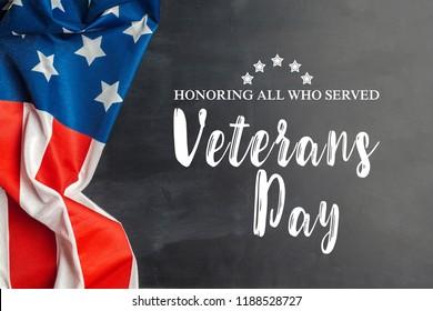 composite of veterans day flag