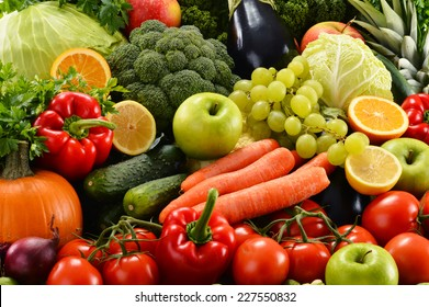 Composition with assorted raw organic vegetables - Shutterstock ID 227550832