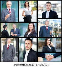 Composition of business people at work