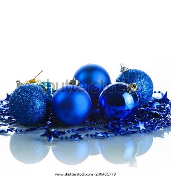 Composition of the Christmas decorations on white background