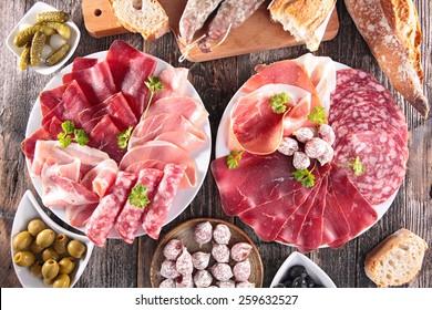 composition of delicatessen