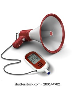 a composition of diabetes device connected to microphone, it is talk about medical diabetes learning, or diabetes talks
