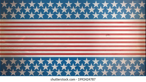 Composition of distressed american flag stars and stripes pattern. united states of america patriotism and independence concept digitally generated image.