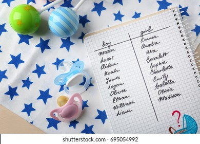 Baby Name List Images, Stock Photos & Vectors | Shutterstock