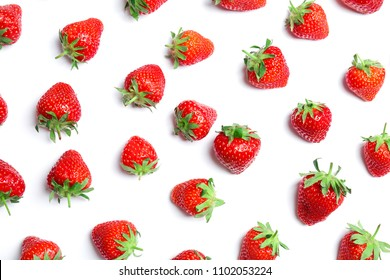 Composition with ripe red strawberries on light background