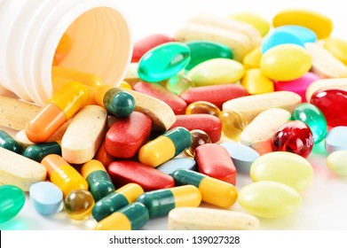 Composition with variety of drug pills and dietary supplements