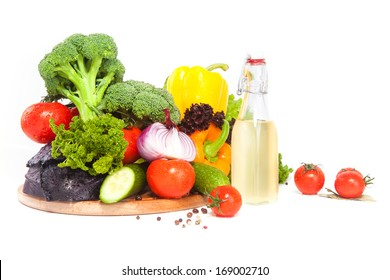 Composition with vegetables and oil