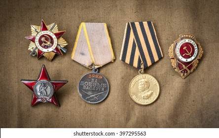 composition of Victory Day. orders, medals.