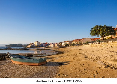 Compostela beach boardwalk to Carril village in Vilagarcia de Arousa town