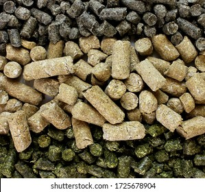 Compound feed for animals, livestock, granular feed mixtures