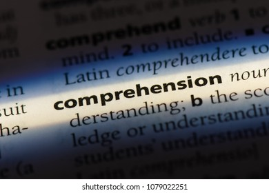 comprehension word in a dictionary. comprehension concept