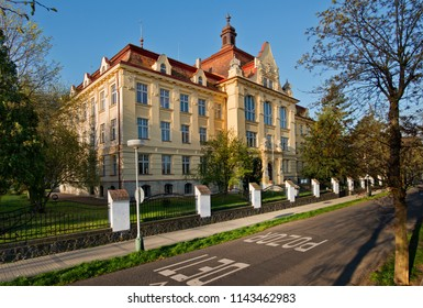 Comprehensive school in Zatec town. Czech Republic.
