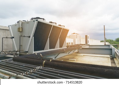 Compressor - Cooling systems on top of the building