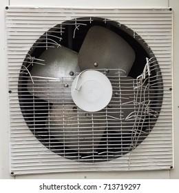 Compressor Fan with Broken Cover