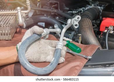 Compressor hose car