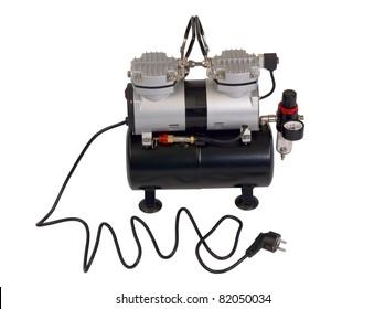 Compressor on white background