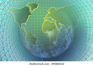 Abstract computer background blues map digits stock photo edit now computer background with world map and digits gumiabroncs Choice Image