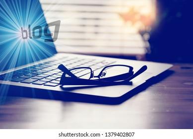 A computer, a blog and a blog