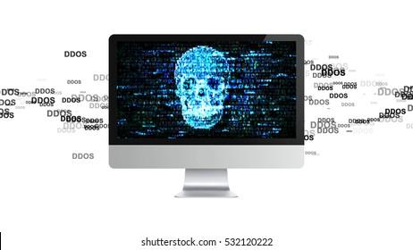 The computer is broken. DDOS Attack, Infection trojan, virus attacks