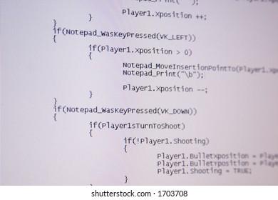 Computer C code programming