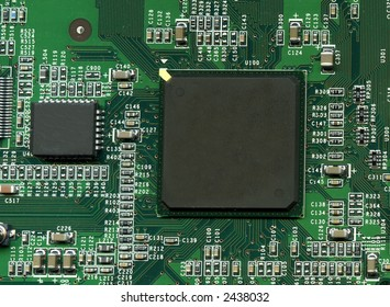 Computer circuit board detail
