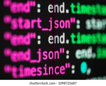 Computer code up close
