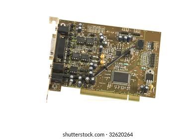 Computer component. Audio board.