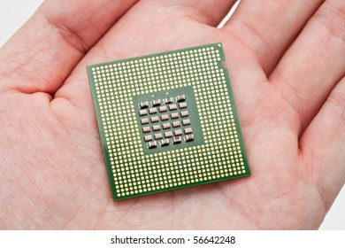 Computer CPU close up shot