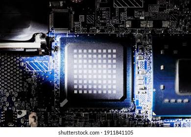 computer CPU processor motherboard mockup