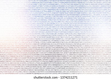Computer data symbols of different colors on white background. Seamless pattern.